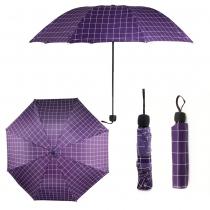Fialový károvaný deštník Carley 012