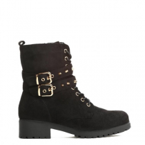 Dámské černé kotníkové boty Edna 069