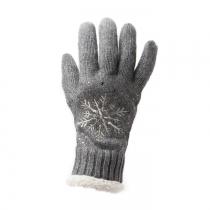 Tmavě šedé prstové rukavice Snowflake