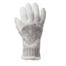 Světle šedé prstové rukavice Snowflake