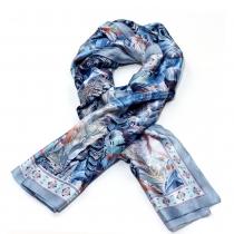 Dámský modrý šátek Desiré 017