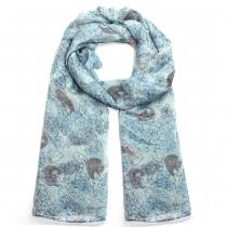 Dámský světle modrý šátek Millau 021