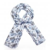 Dámský modrý šátek Nice 023