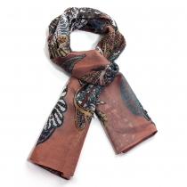 Dámský hnědý šátek Oriental 024