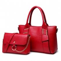SET: Dámská červená kabelka Keyla 6712