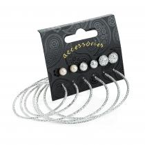 SET: Šest párů stříbrných náušnic Renne 31400