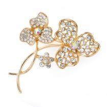 Brož ve zlaté barvě Flower 30878