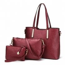 SET: Dámská červená kabelka Posh 1766