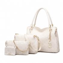 SET: Dámská béžová kabelka Claire 6714