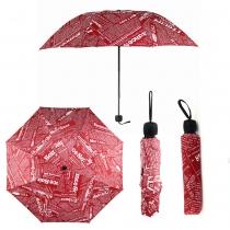 Červený skládací deštník Print 013