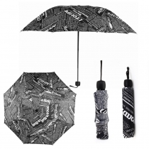 Černý skládací deštník Print 013