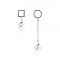 Náušnice ve stříbrné barvě Eleanor 0024