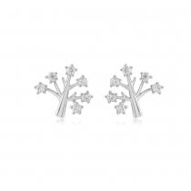 Náušnice ve stříbrné barvě Tree 0015