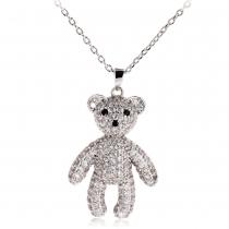 Náhrdelník ve stříbrné barvě Teddy 0042