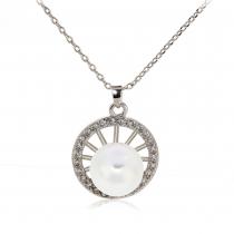 Náhrdelník ve stříbrné barvě Diamond 0049
