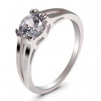 Prsten ve stříbrné barvě Brooke 033 (18 mm)