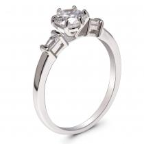 Prsten ve stříbrné barvě Meredit 055 (16 mm)