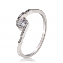 Prsten ve stříbrné barvě Camila 031 (16 mm)