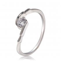Prsten ve stříbrné barvě Camila 031 (17 mm)