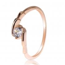 Prsten v růžovo zlaté barvě Clarieta 032 (17 mm)
