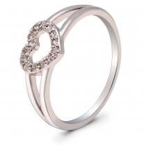 Prsten ve stříbrné barvě Anita 057 (17 mm)