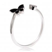 Prsten ve stříbrné barvě Holly 049 (17 mm)