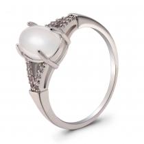 Prsten ve stříbrné barvě Jasmin 061 (16 mm)