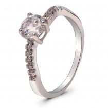 Prsten ve stříbrné barvě Miley 060 (16 mm)