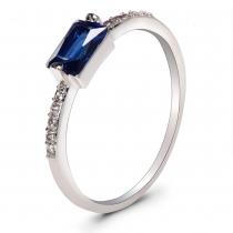 Prsten ve stříbrné barvě Bria 063 (18 mm)
