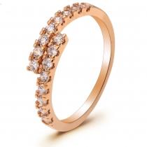 Prsten v růžovo zlaté barvě Tatum 071 (17 mm)