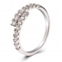 Prsten ve stříbrné barvě Julia 072 (17 mm)