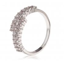 Prsten ve stříbrné barvě Amanda 082 (18 mm)