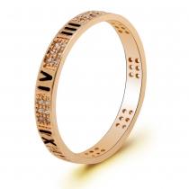 Prsten v růžovo zlaté barvě Valeria 093 (17 mm)