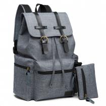 SET: Dámský šedý batoh Dave 6704