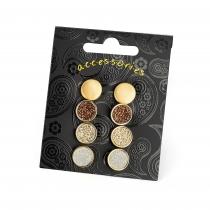 SET: Čtyři páry náušnic ve zlaté barvě Daria 31581