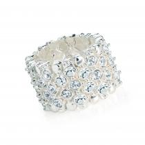 Prsten ve stříbrné barvě Lucia 31606