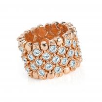 Prsten v růžovo zlaté barvě Lucia 31605