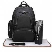 SET: Mateřský černý batoh na kočárek Dario 6706