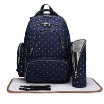 SET: Mateřský námořnicky modrý batoh na kočárek Dario 6706D