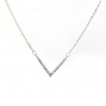 Náhrdelník ve stříbrné barvě Emeli 014