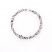 Náramek ve stříbrné barvě Lusinda 0062