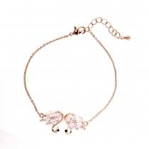 Náramek v růžovo zlaté barvě Heidi 0065