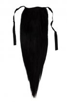 CLIP IN vlasy - culík 40 cm uhlově černá