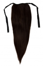 CLIP IN vlasy - culík 40 cm tmavě hnědá