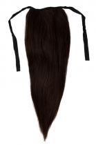 CLIP IN vlasy - culík 50 cm tmavě hnědá