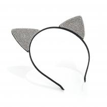 Černá čelenka do vlasů Cat 31776