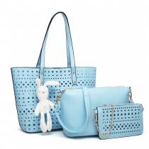 SET: Dámská modrá kabelka Natasha 1829