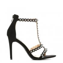 Dámské černé sandály na podpatku Kasandra 5150