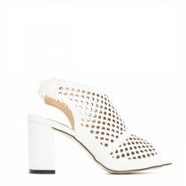 Dámské bílé sandály na podpatku Missi 9221