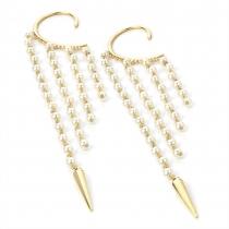 Háček za ucho ve zlaté barvě Pearls 26364